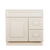 Cream White Vanity Base with Drawer 30 L/R@