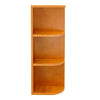 Honey Spice Wall End Open Shelf