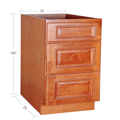 White Maple Drawer Base Cabinet 12-24