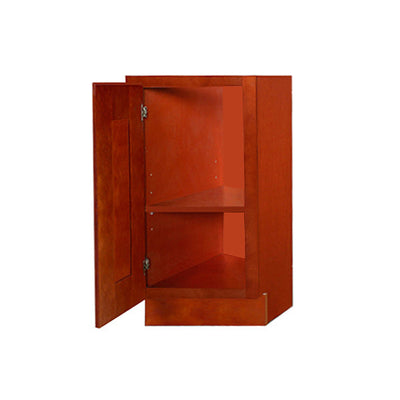 Cherry Shaker Base End Cabinet with One Door