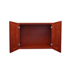 "Cherry Rope Wall Cabinet 24 Deep 21""H"