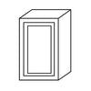 "Shaker Gray Single Door Wall Cabinet 12"" Deep 30""H@"