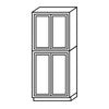 Shaker Espresso Pantry Cabinet with Four Doors@