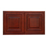 "Cherry Rope Wall Cabinet 24 Deep 15""H"