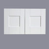 "White Shaker Wall Cabinet with Two Doors 15""H"