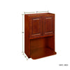 Cherry Maple Wall Microwave Cabinet@