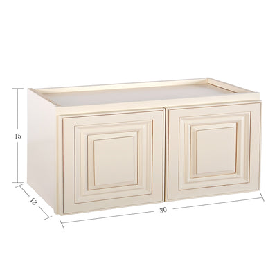 "Cream White Wall Cabinet 12"" Deep 15""H@"