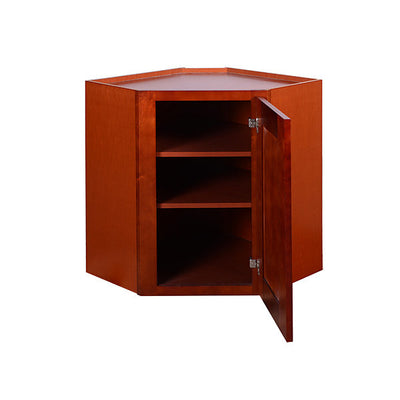 Cherry Shaker Wall Diagonal Cabinet