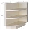 Cream White Base End Open Shelve@
