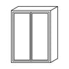 "Shaker Gray Wall Cabinet 12"" Deep 39""H@"