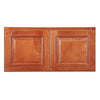 "Wine Maple Wall Cabinet with Two Doors 15""H"