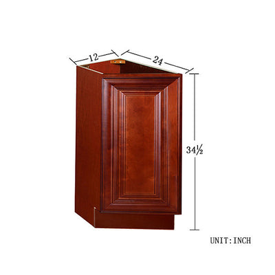 Cherry Maple Base End Angle Cabinet with One Door @