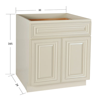 Cream White Base Cabinet 21-30@