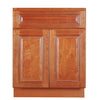 Wine Maple Sink Base Cabinet 27-33