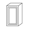 "Shaker Gray Single Door Wall Cabinet 12"" Deep 36""H@"