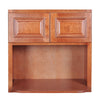 Wine Maple Wall Microwave Cabinet