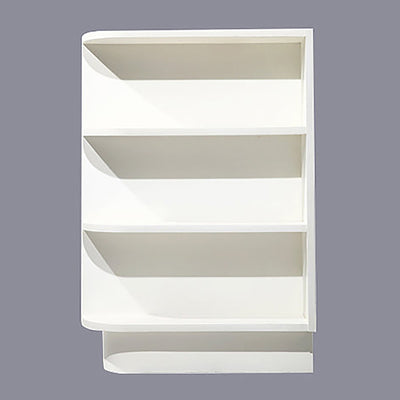 White Shaker Base Open Shelf
