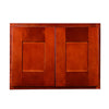 "Cherry Shaker Wall Cabinet with Two Doors 18""H"
