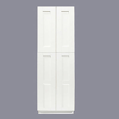 White Shaker Pantry Cabinet with Four Doors