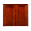 "Cherry Shaker Wall Cabinet with Two Doors 21""H"