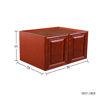 Cherry Maple Wall Cabinet 24 Deep 15H @