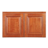 "Wine Maple Wall Cabinet with Two Doors 18""H"