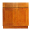 Honey Spice Sink Base Cabinet with Two Drawers & Two Doors