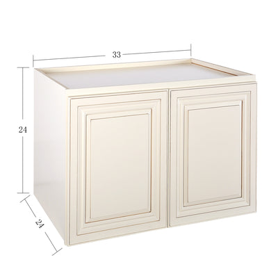 "Cream White Wall Cabinet 24"" Deep 24""H@"
