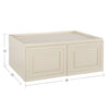 "Cream White Wall Cabinet 24"" Deep 15""H@"