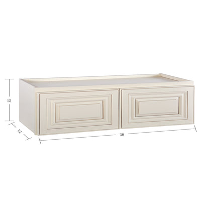 Cream White Wall Cabinet 12 Deep 12H@