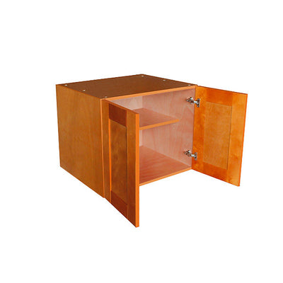 "Honey Spice Wall Cabinet with Two Doors 24""H"