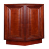Cherry Maple Base End Angle Cabinet with Two Doors @