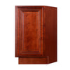 Cherry Rope Base End Cabinet with One Door