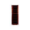 Cherry Rope Pantry Cabinet with Four Doors