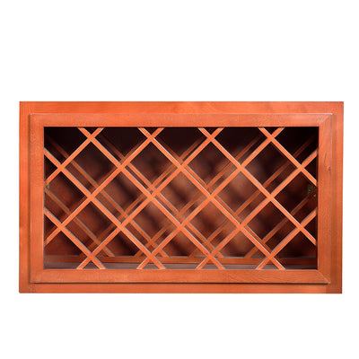 Wine Maple Cream White Wall Wine Rack Cabinet