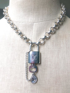 LV Lock Silver Necklace