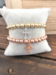 Dangle Cross Bracelet