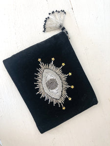 Black Eye Velvet Purse