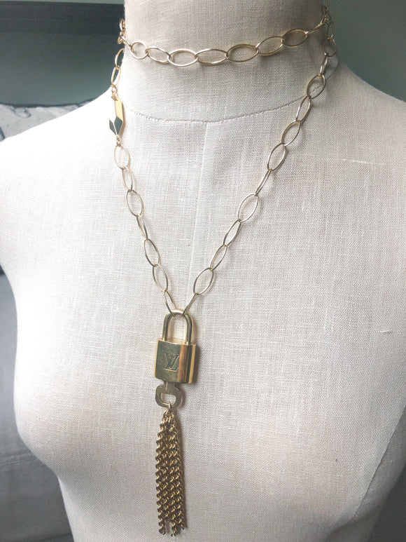 LV Lock Tassel Necklace