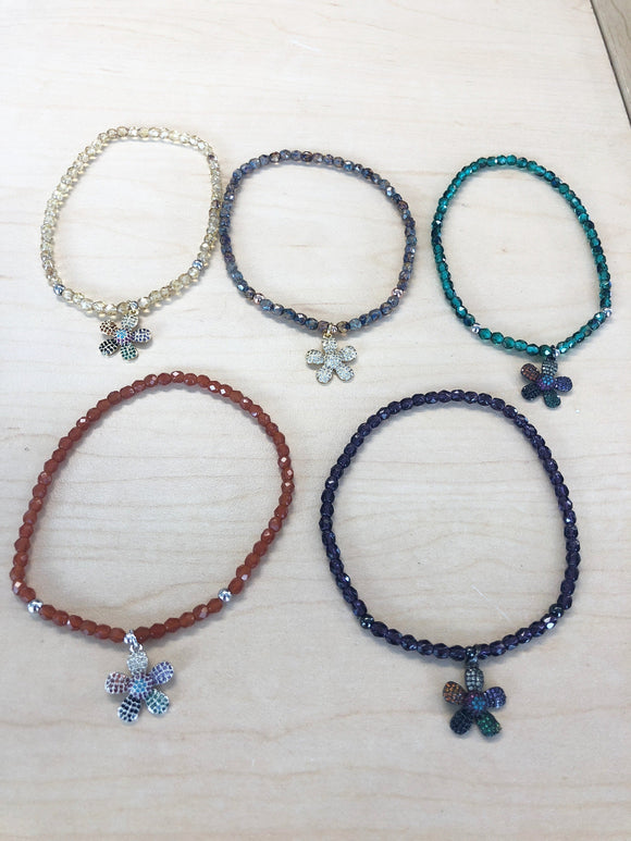 Flower Crystal Anklet