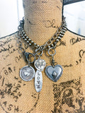 Fine Silver Love Necklace
