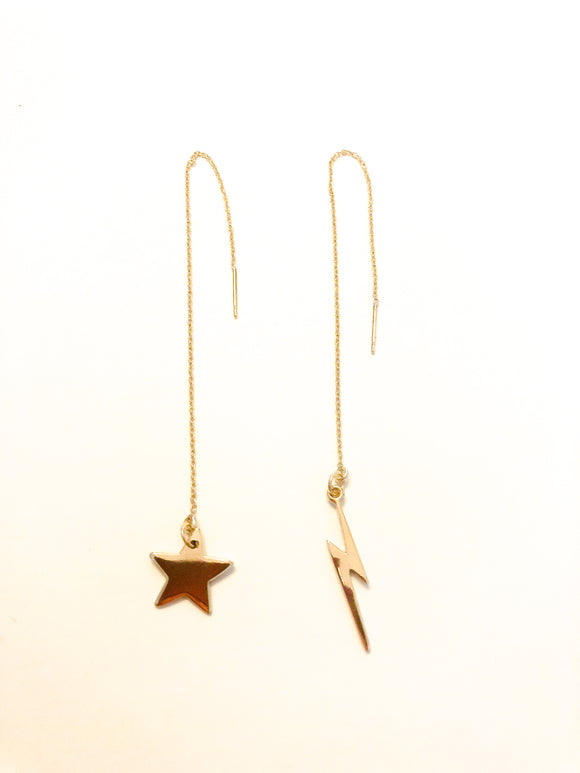 Star and Thunderbolt Earring Threaders