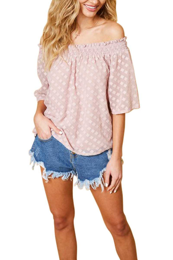 Diamond Burnout Off Shoulder Top