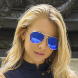 Styled Shot Small Blue Aviators