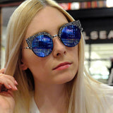 Styled Shot Blue Silver Sunglasses