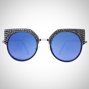 Blue Silver Sunglasses