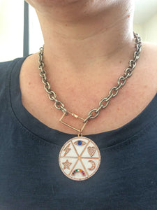 Wheel of Happiness Charm Necklace