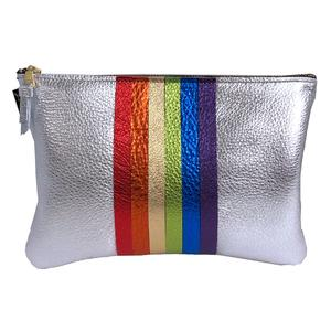 Rainbow Leather Bag Silver