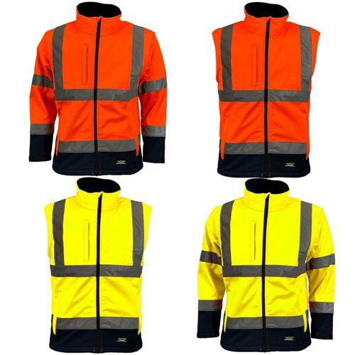 Mens Hi Vis 2in1 Softshell Jacket