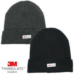 3M Thinsulate Cuff Beanie Hat Thermal Fleece Lined Cap